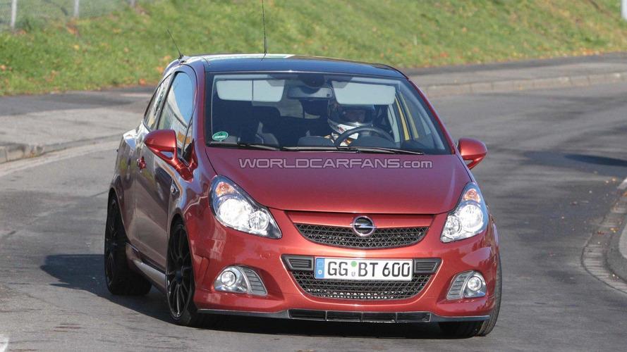 Opel Corsa OPC Nürburgring Edition latest spy shots