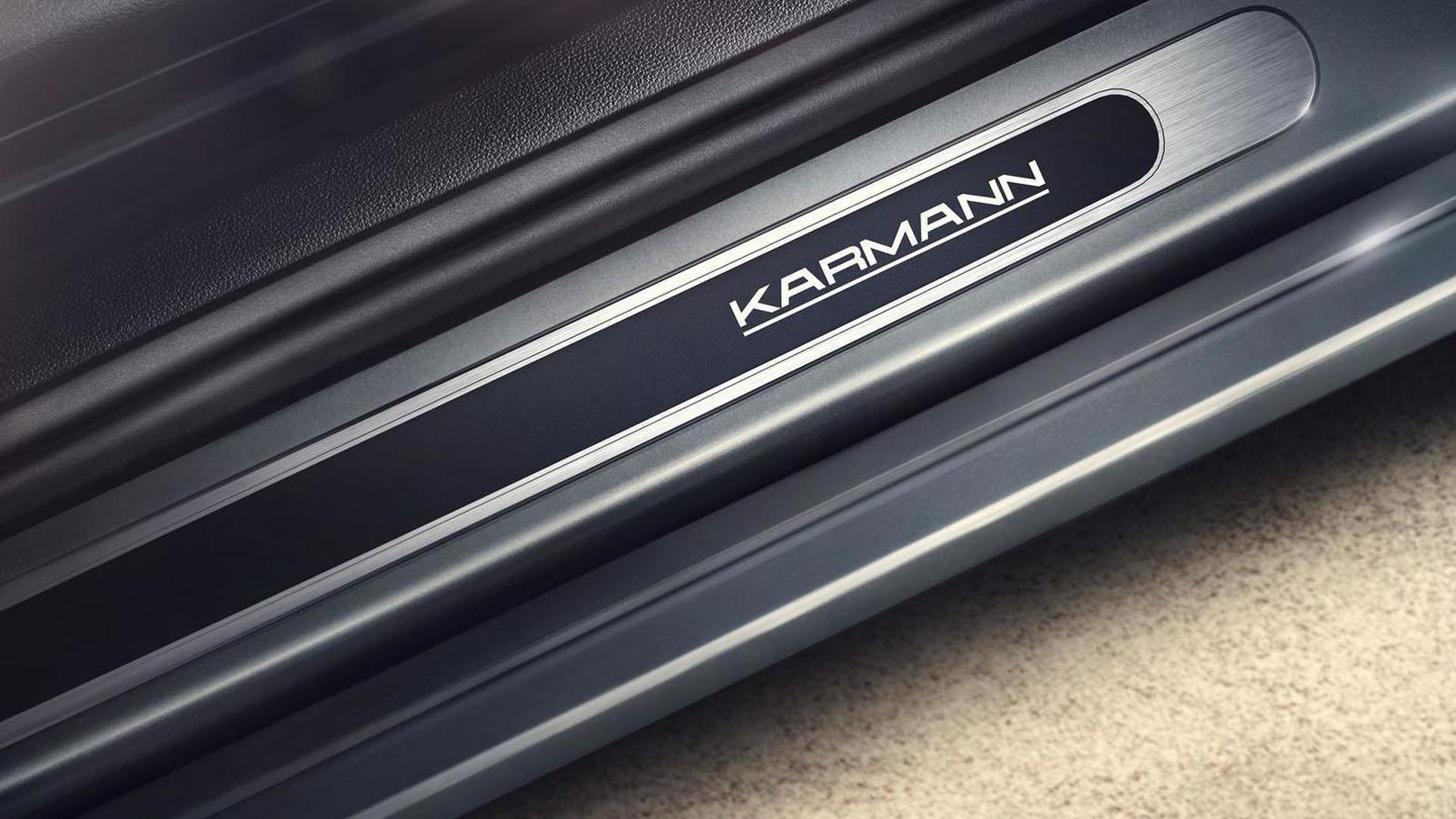 Табличка Karmann на дверных порогах