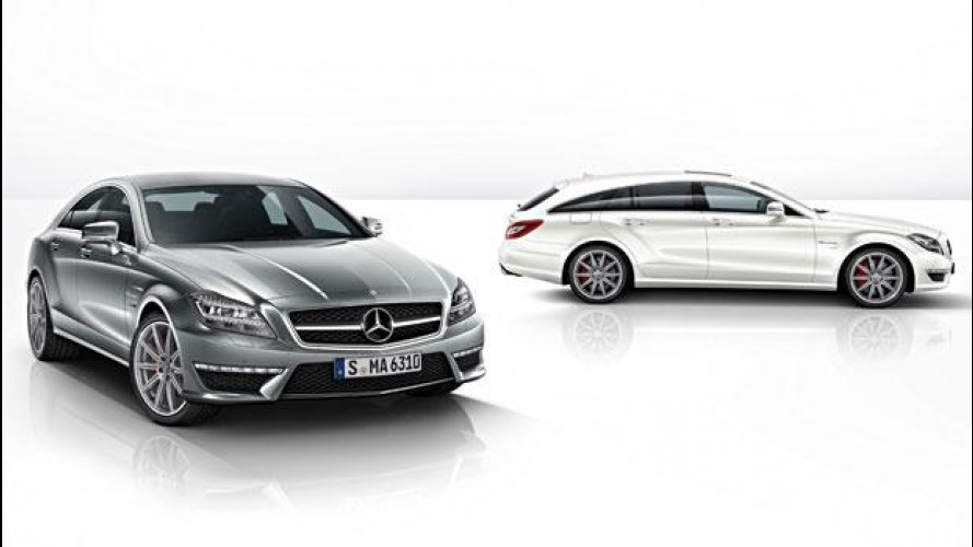Nuove Mercedes CLS 63 AMG Coupé e Shooting Brake