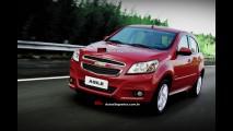 Chevrolet Agile receberá face-lift na linha 2014 - Projeção antecipa novo visual
