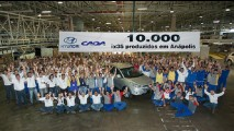Hyundai CAOA comemora produção de 10 mil ix35 em Anápolis