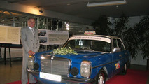 Sachinidis with his Mercedes-Benz 240 D
