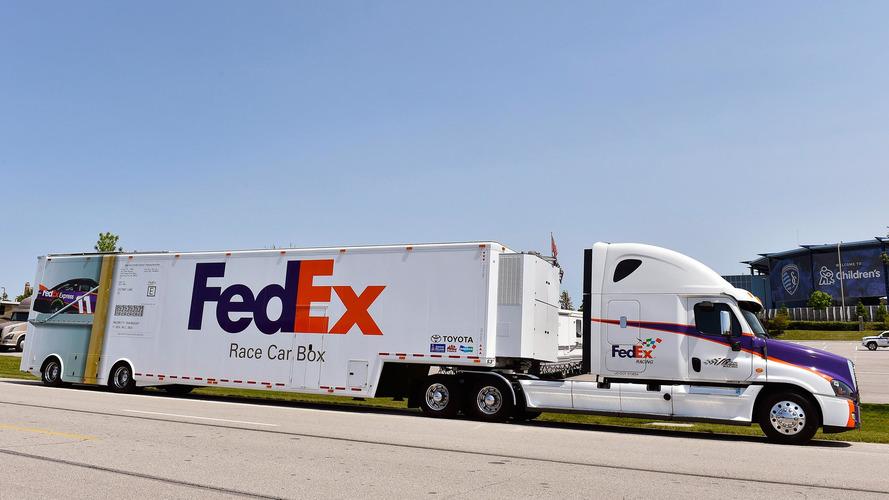 Denny Hamlin Ships His Car To Each NASCAR Race Using FedEx
