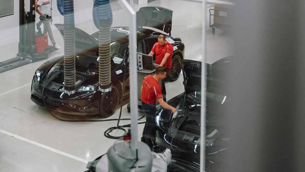 Porsche MIssion E Prototype Production
