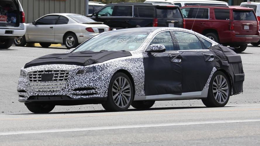 Hyundai Genesis facelift keeps full body camo in latest spy shots from U.S.