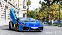 PHOTOS - Shooting d'une Lamborghini Aventador