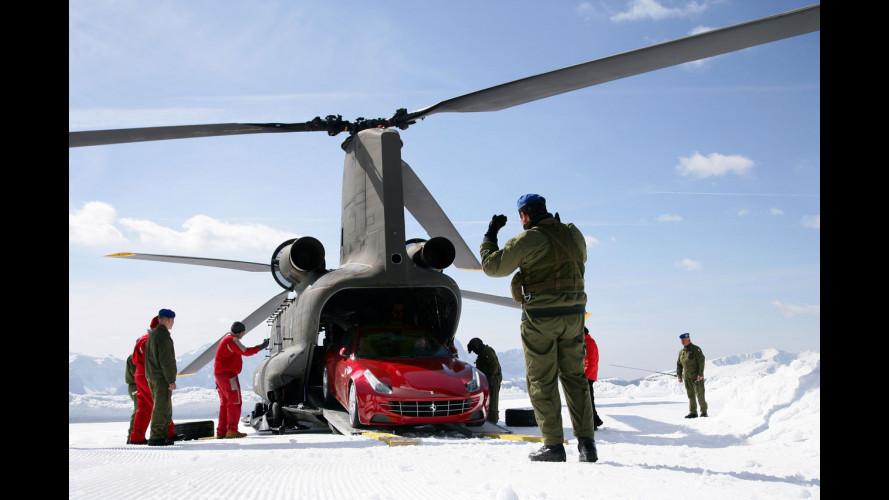 Le Ferrari FF sulle nevi fanno infuriare gli ambientalisti