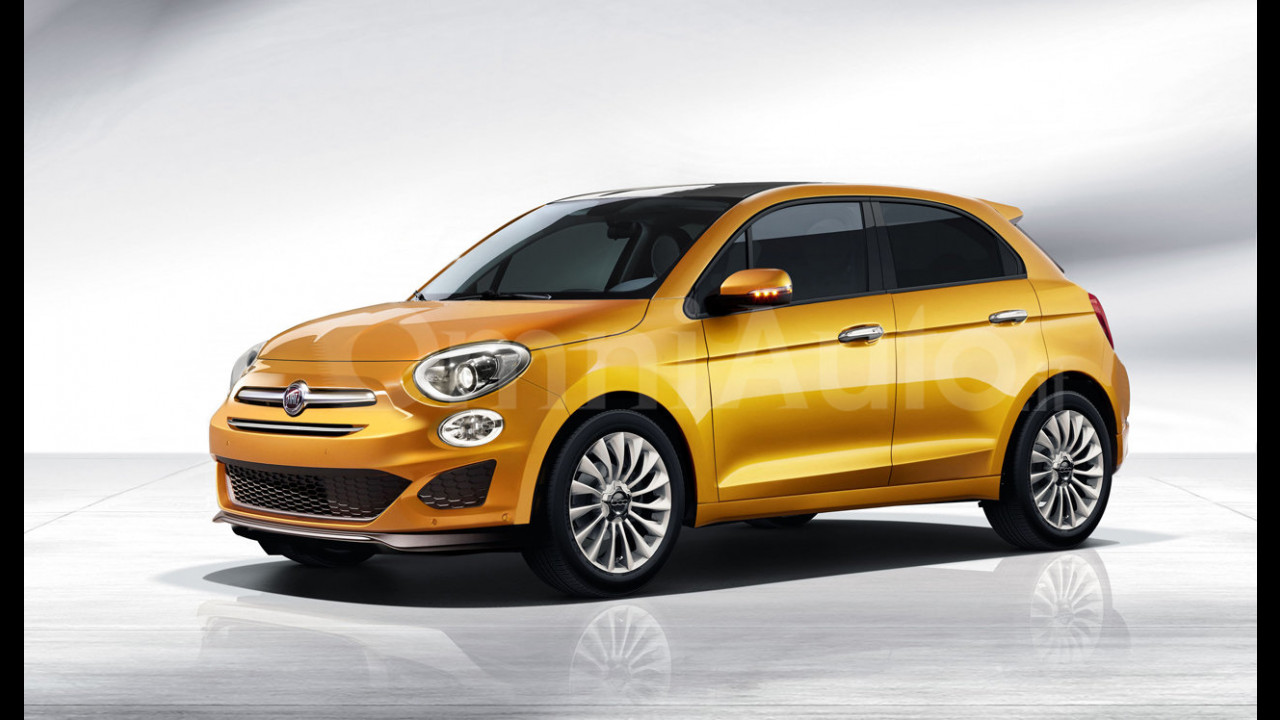 Fiat 500, il rendering della 5 porte