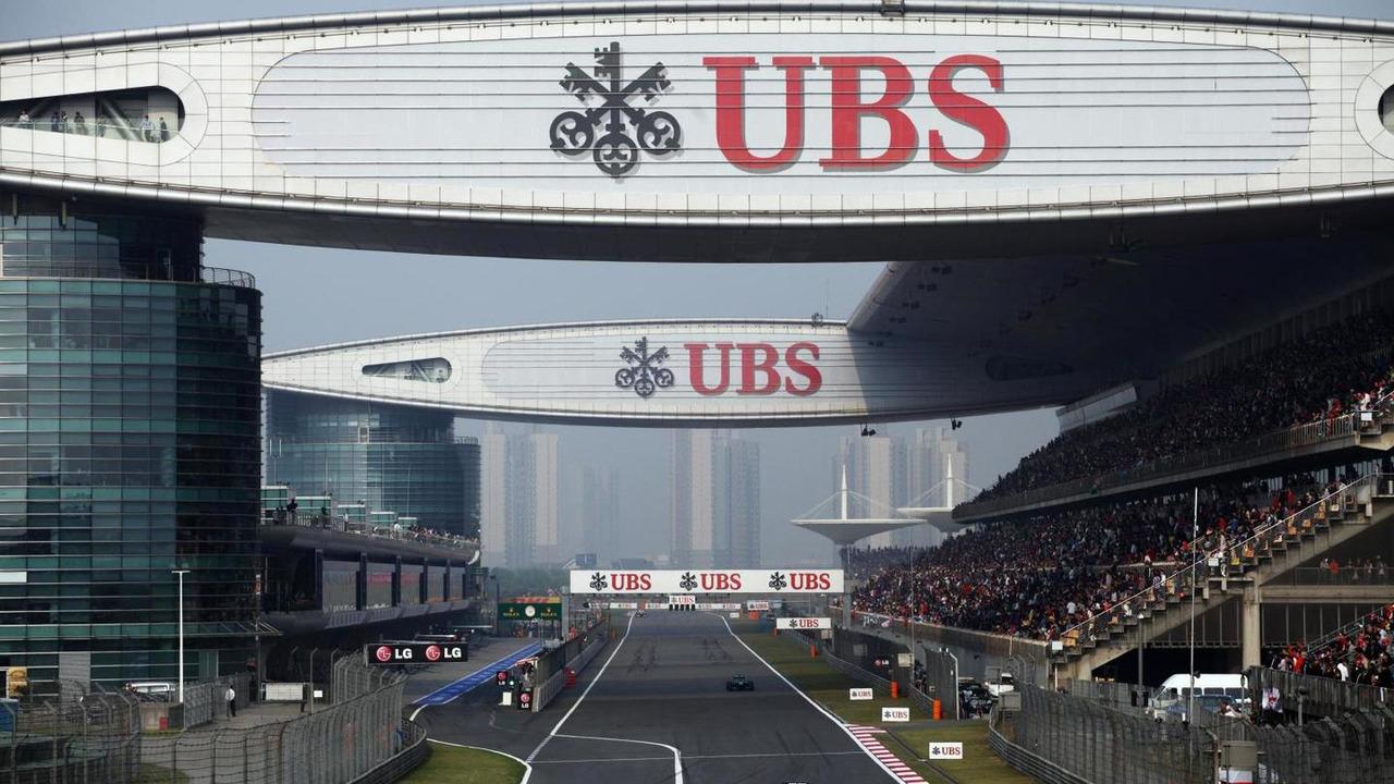 UBS logos 14.04.2013 Chinese Grand Prix