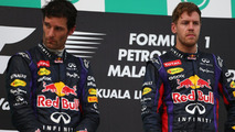 Sebastian Vettel and place Mark Webber 24.03.2013 Malaysian Grand Prix