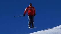 Michael Schumacher skiing at Wrooom Ski Press Meeting in Madonna di Campiglio Italy 12.01.2005