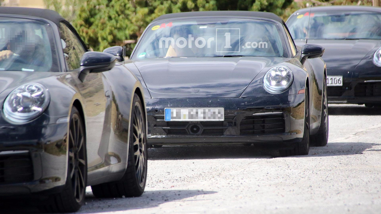 Porsche 911 Convertible Spy Pics