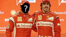 Felipe Massa and Fernando Alonso at Ferrari F150 Launch 28.01.2011