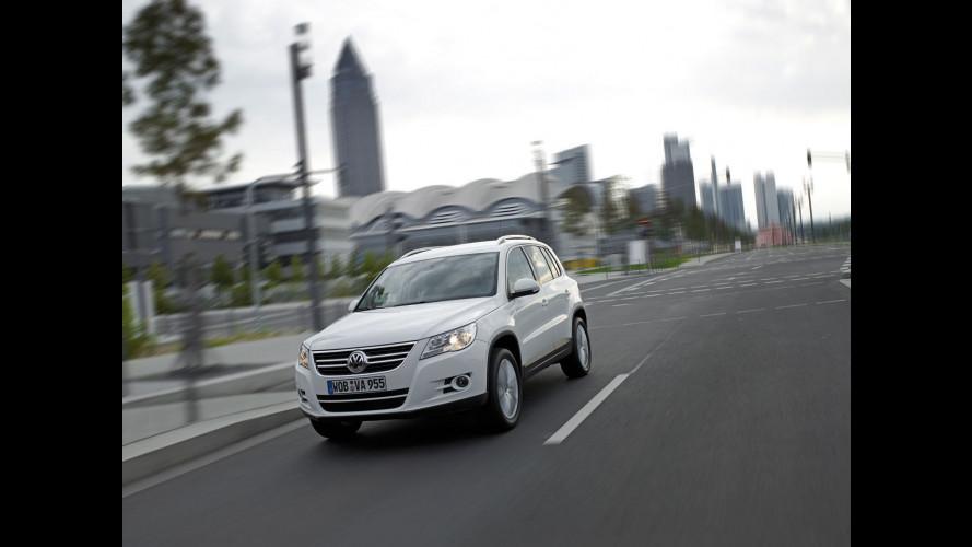 La Volkswagen Tiguan a trazione anteriore