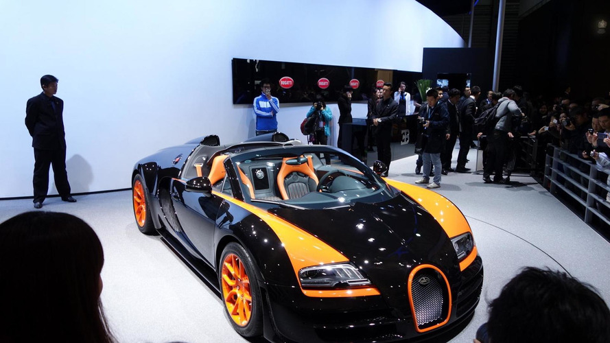 Bugatti Veyron Grand Sport Vitesse World Record Car Edition makes public debut at Auto Shanghai