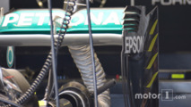 Mercedes rear wing detail