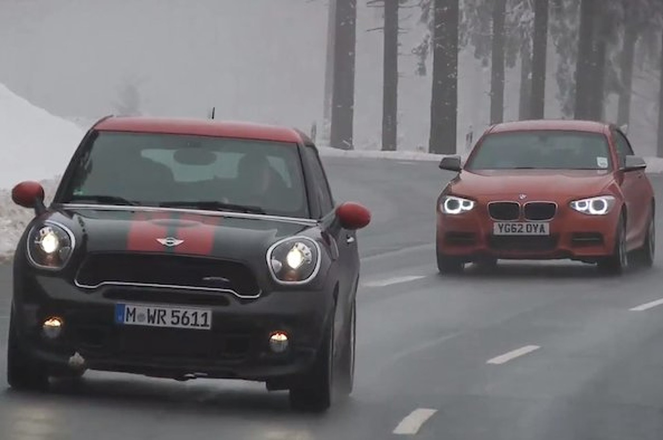 Video: Autocar Pits Mini Paceman JCW against BMW M135i