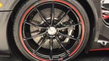 Red And Carbon Fiber Pagani Huayra