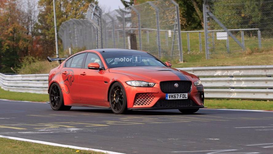 Jaguar XE SV Project 8 flexes its muscles at the Nurburgring