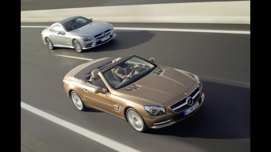 Nuova Mercedes SL, più tecnologica e leggera