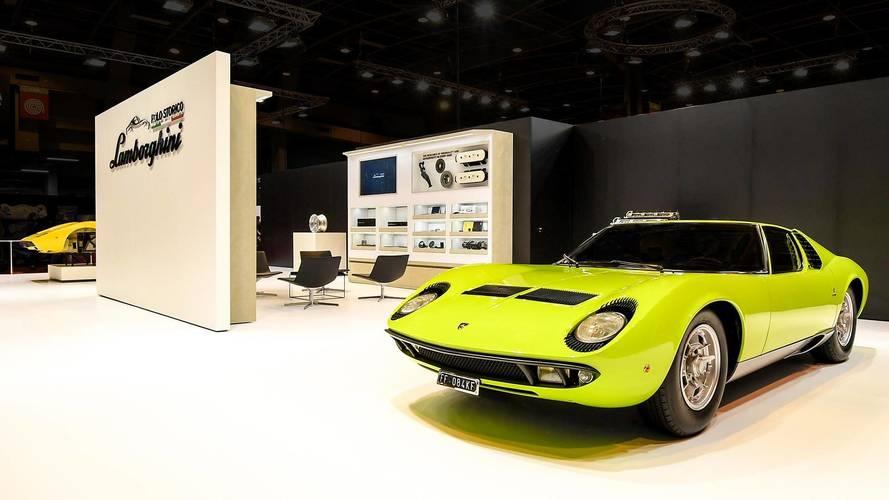 Lamborghini highlights miura and countach restorations in for Salon retro mobile