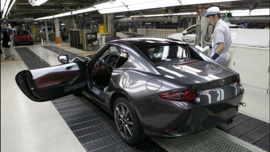 Mazda MX-5 RF, è iniziata la produzione