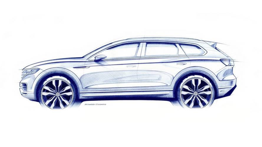 2019 VW Touareg Teases Sharper Shape Ahead Of March 23 Debut