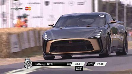 La Nissan GT-R50 par Italdesign défile à Goodwood