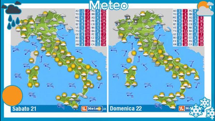Meteo del fine settimana 21 e 22 dicembre