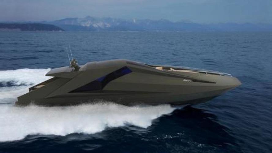 Lamborghini yacht rendered