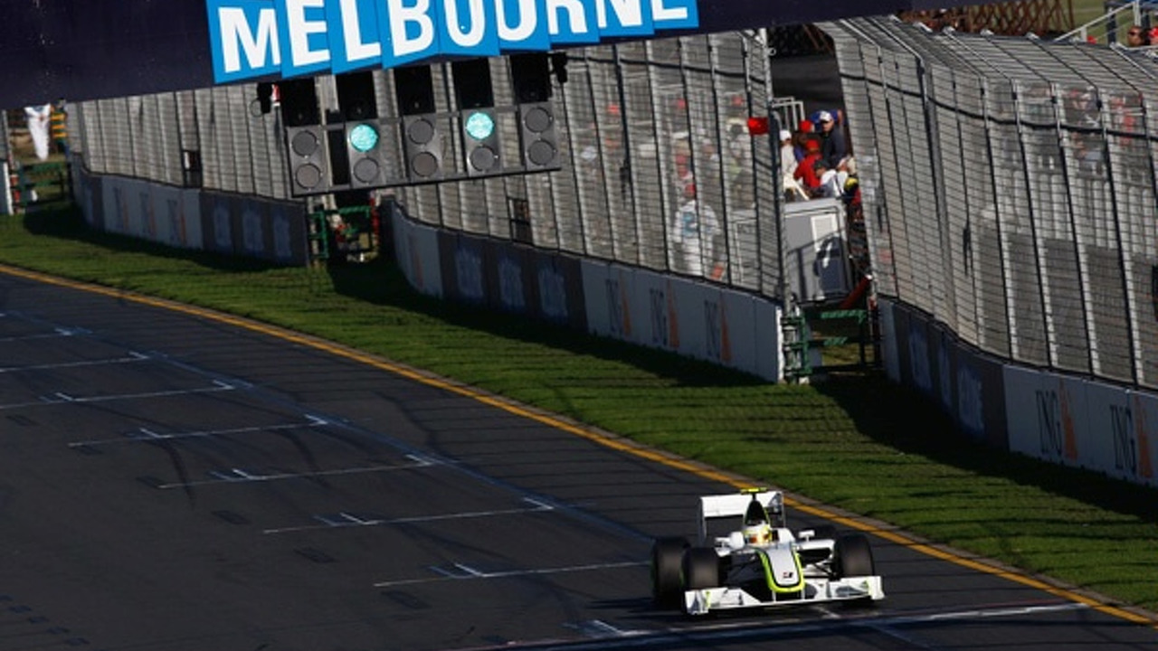Jenson Button in BGP001 at Australian GP 2009 qualifying