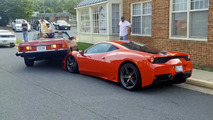 Ferrari 458 Speciale crunched by Mercedes SL