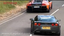 VÍDEO: Corvette ZR1 persegue uma Lamborghini Murciélago LP670-4 Super Veloce em Millbroo