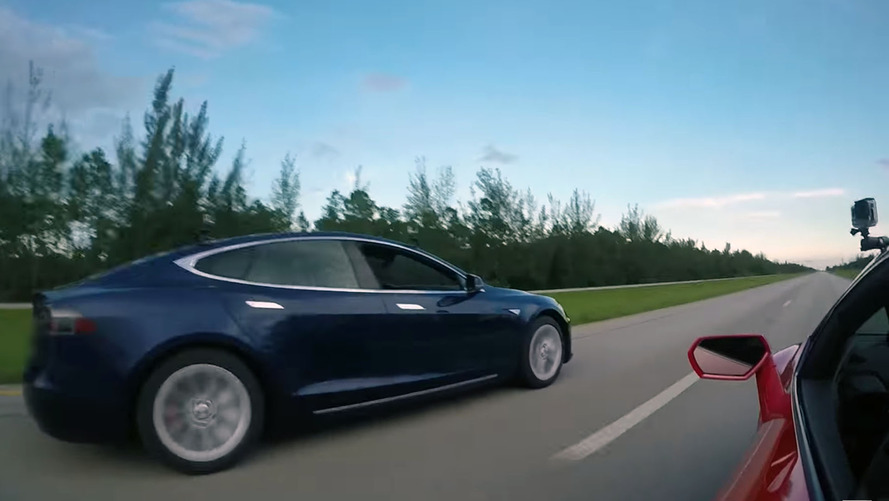 Tesla Model S P100D vs. Lamborghini Huracan, RIP combustion engines
