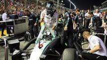 Nico Rosberg, Mercedes AMG F1 W07 Hybrid on the grid