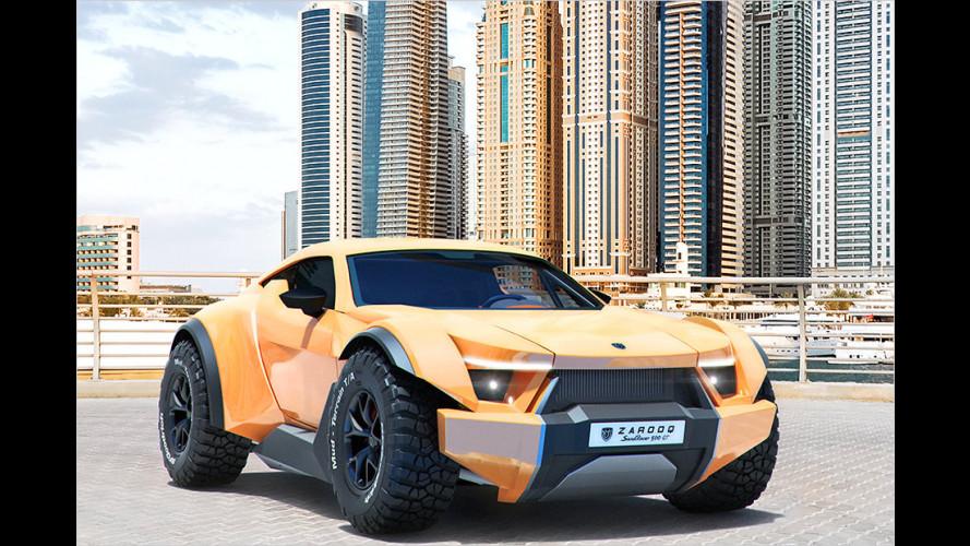 Wie eine Mischung aus BMW X6 und Dakar-Racer