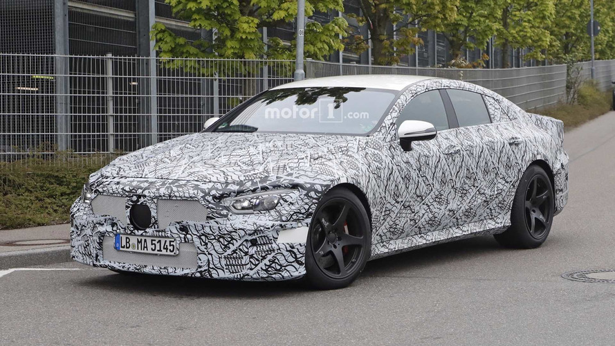 Mercedes-AMG GT Four-Door Spied Up Close