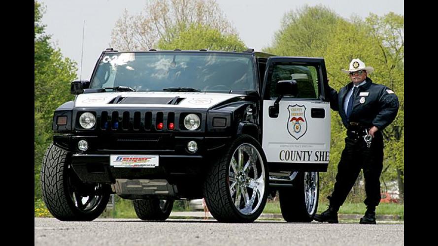 Bullenstarker Hummer: US-Sheriff fährt Geiger-Wumme