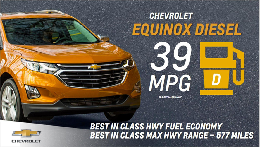 2018 Chevy Equinox Diesel Rated At 39 MPG Highway