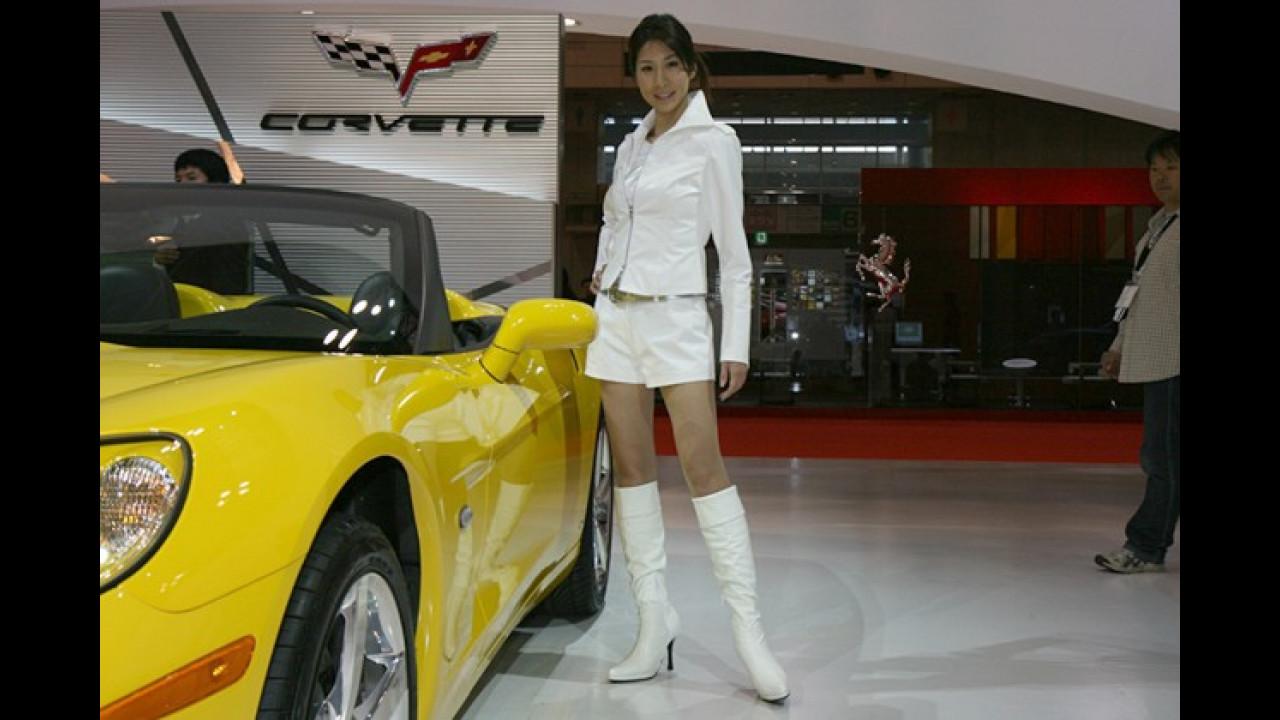 Weiß ist die Farbe der Unschuld. Ob sich das auf die Corvette bezieht?