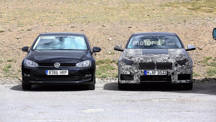 Flagra - BMW testa novo Série 1 junto com o VW Golf