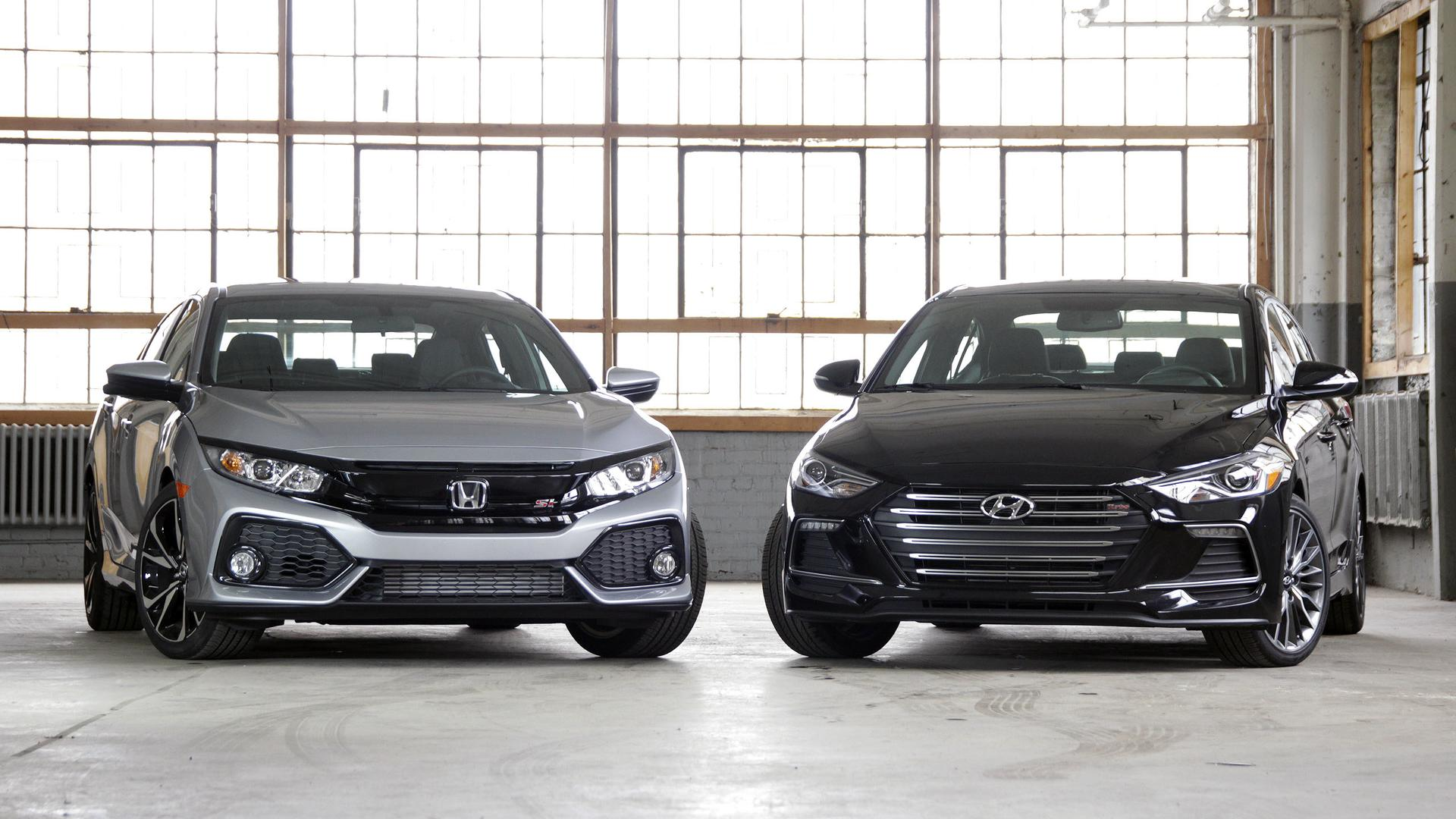Honda civic si vs hyundai elantra sport value minded thrills for Honda or hyundai