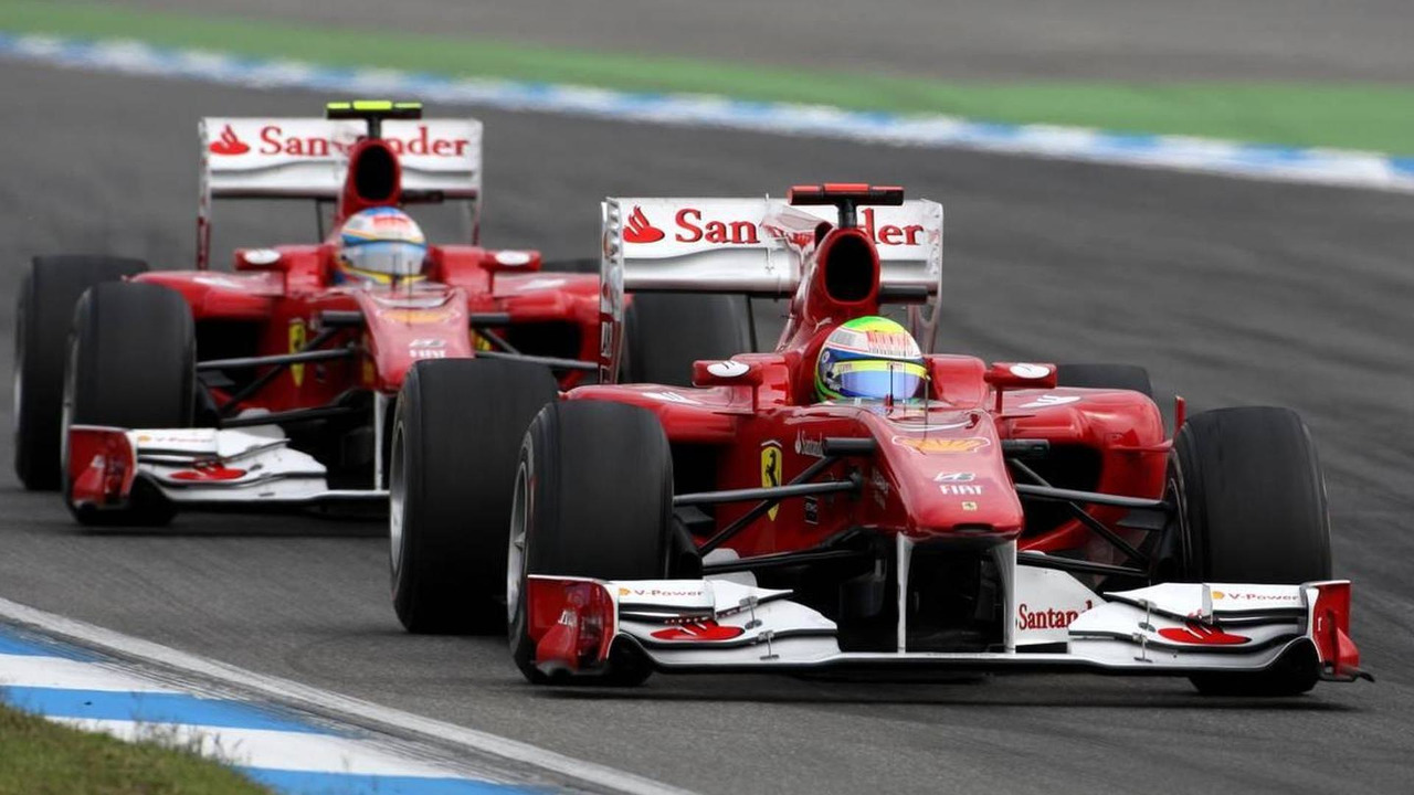 Felipe Massa (BRA), Scuderia Ferrari and Fernando Alonso (ESP), Scuderia Ferrari, German Grand Prix, 25.07.2010 Hockenheim, Germany