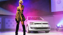 Volkswagen Polo MkV in Geneva with American pop artist Pink