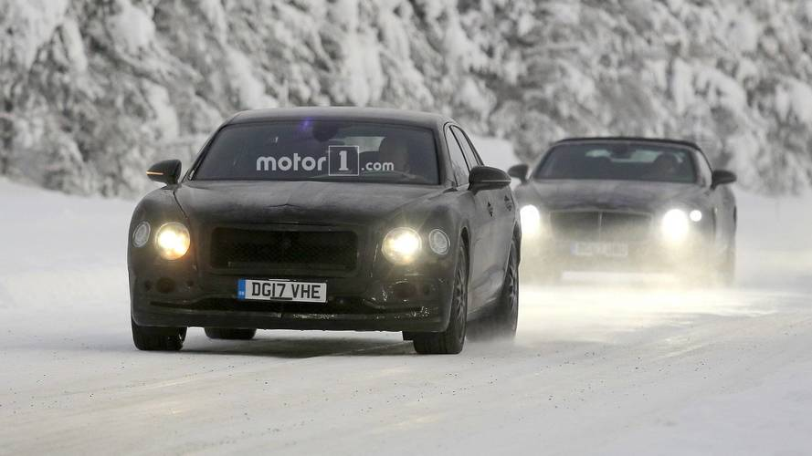 2019 Bentley Flying Spur new spy photos