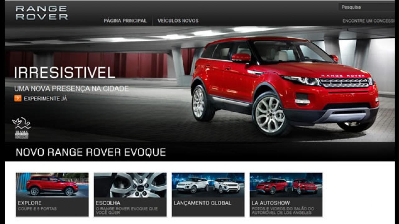 Land Rover coloca o Evoque no site brasileiro