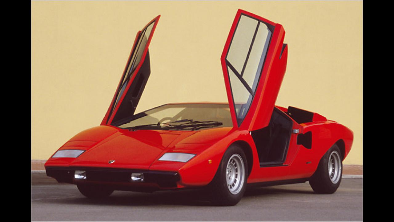 Flach, radikal, neu: Der Lamborghini Countach saugte 1973 Begehrlichkeiten en masse an