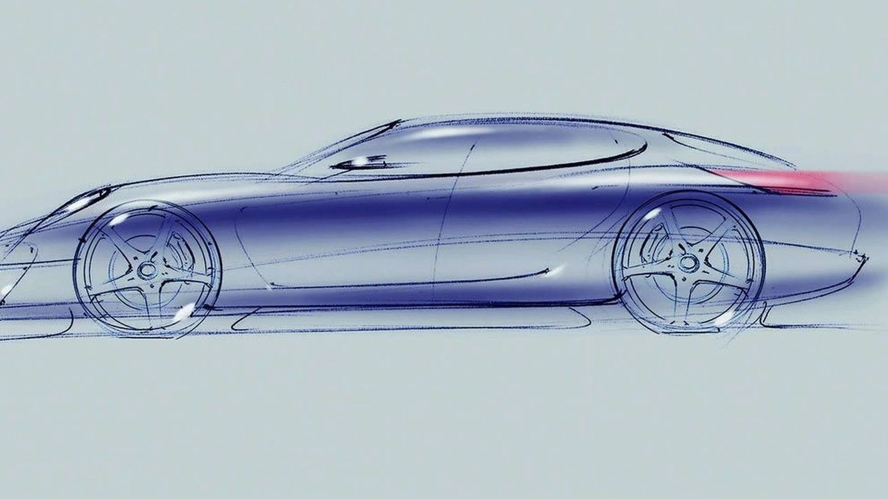 Design drawing of the new Panamera Sports Coupé