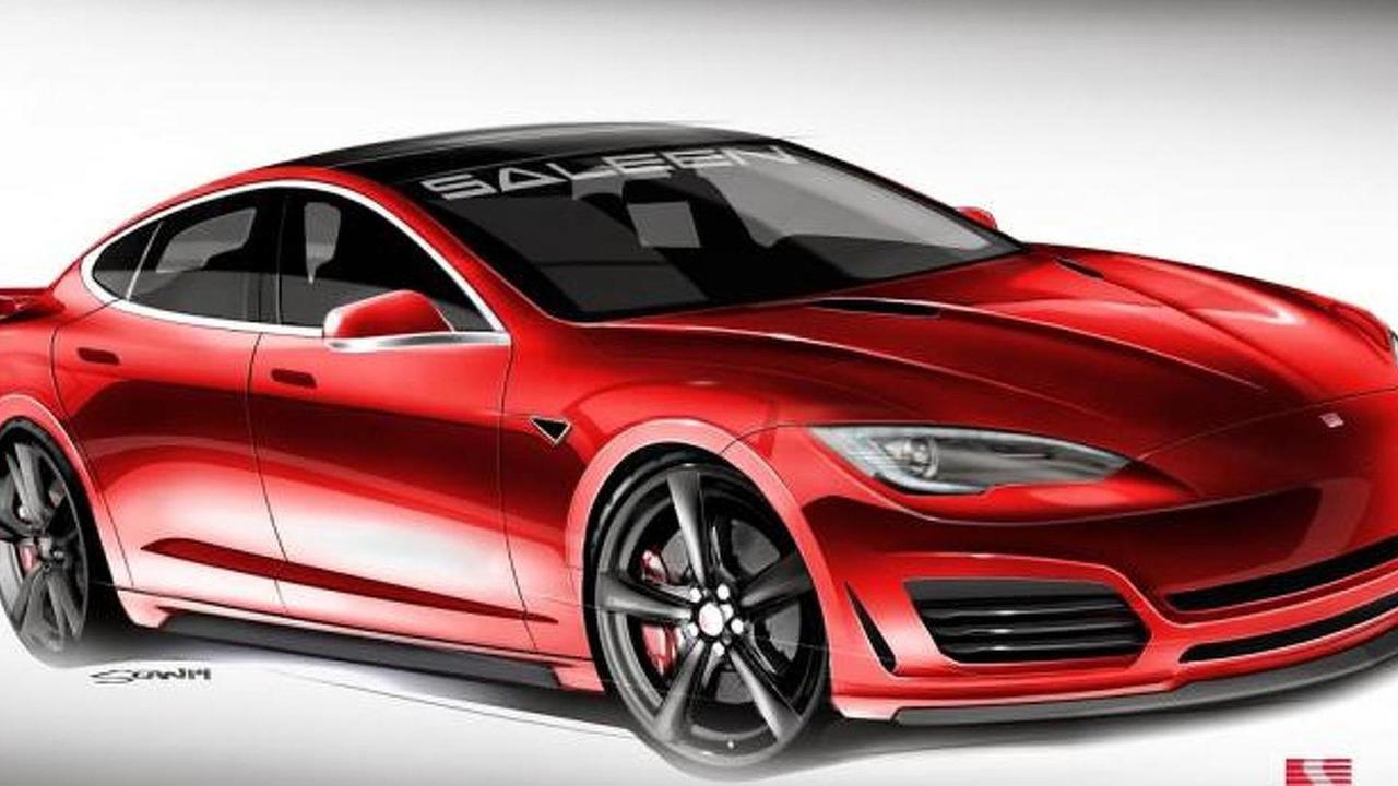 Tesla Model S by Saleen design sketch