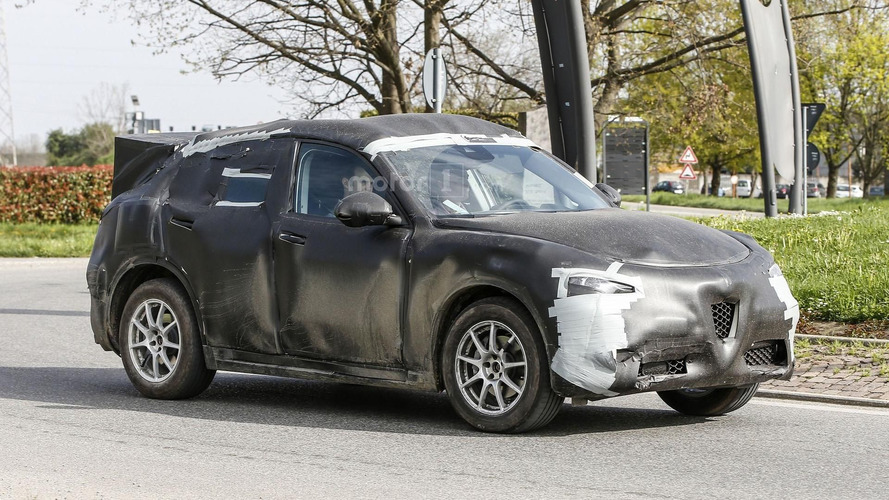 2017 Alfa Romeo Stelvio spied wearing a production body